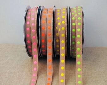 Bright Dot Ribbon - 3m, choose your colour