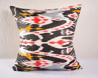 Ikat Pillow, Hand Woven Ikat Pillow Cover  MPI103, Ikat throw pillows, Designer pillows, Decorative pillows, Accent pillows