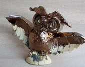 Cute little owl , home decor , ceramic figurine , fan art. Symbol of wisdom.