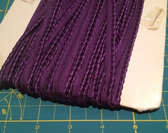 Purple Gimp Upholstery Insertion Braid x one metre