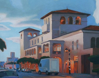 """Oil Painting """"Evening on Worth Avenue"""" 2010, by B. Kravchenko for SEASTYLE"""
