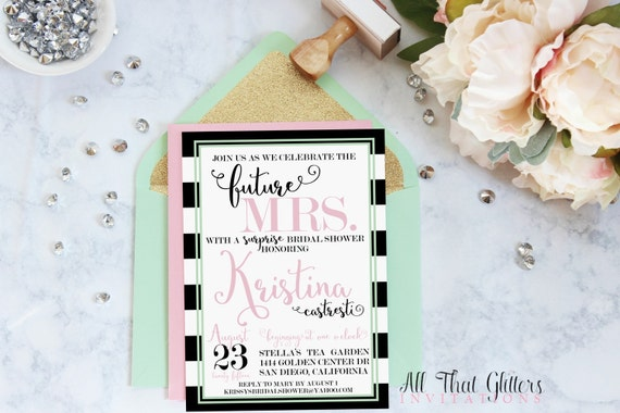shower invitation striped baby shower invitations kate spade baby