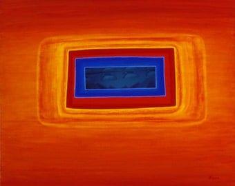 Abstract art mixed media original painting