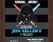 Vintage Inspired Darth Vader - Star Wars - Birthday Invite