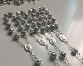 36 pcs  First communion favors / Mini  Rosary Baptism Favors / Baptism favors / Religious Mini Rosary /  silver minirosaries Narelo