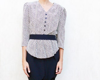 """Raging 80's peplum dress, small - black hearts pattern . . . . . """"Like"""" our fb page for 10% discount"""
