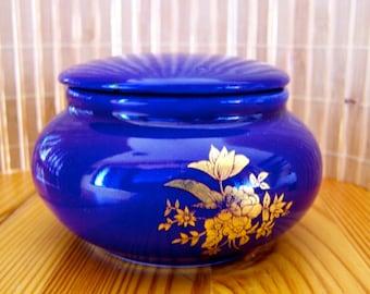 """Vintage 70's """"COBALT BLUE TRiNKET JAR"""""""