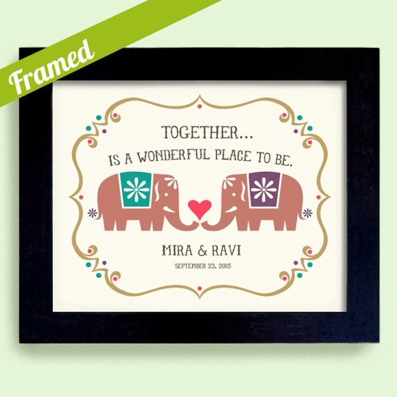 Unique Engagement India Wedding Gift Good Luck Framed Gift for Couples ...