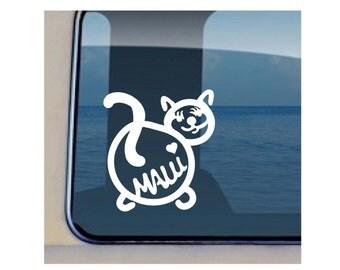 Cat Maui Decal Hawaiian Sealife Stickers - 212