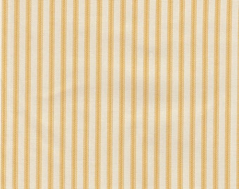 """54"""" Yellow/Ivory Cotton Duck Ticking Fabric-20 Yards Wholesale By the Bolt"""