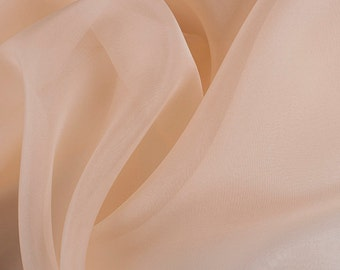 "45"" Wide 100% Silk Organza Champagne by the yard"
