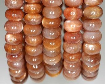 6x3mm Sunstone Gemstone Grade AAA Rondelle 6x3mm Loose Beads 7 inch Half Strand (90189768-806)