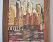 Midcentury Abstract Painting, Manhattan