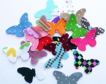Felt Butterflies SMALL. Set of 20 pieces.