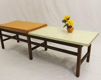 Mid Century Modern Harvey Probber / Jens Risom style table bench