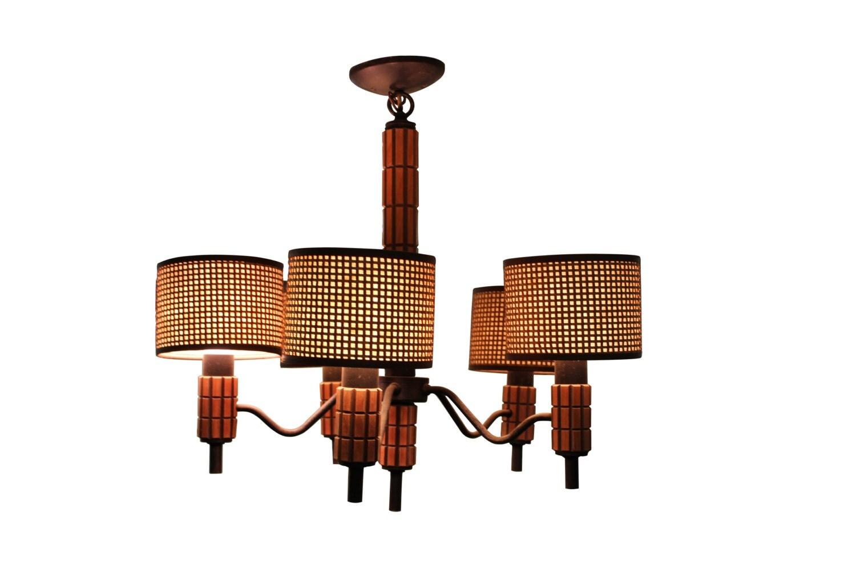 Mid century modern vintage ceiling light hanging lamp for Mid century modern hanging lamp