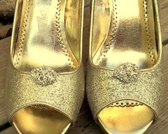 Rhinestone Shoe Clips, Wedding Shoe Clips, Bridal Shoe Clips, Rhinestone Shoe Clip, Crystal Clips for shoes, pumps Best Seller