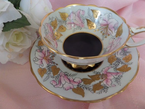 Royal Stafford Tea Cup -- Morning Glory -- English Tea Cup -- Glided ...