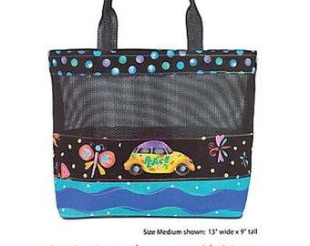Beach Bag Pattern Tote Bag Screen Play by Nancy Ota Designs SP931362