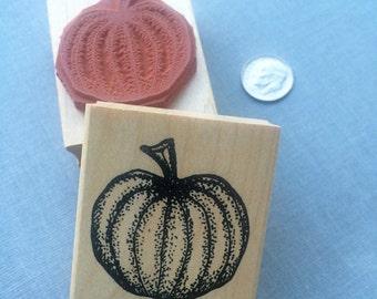 Pumpkin Rubber Stamp