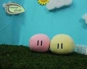 Small Clannad Basic Dango Plushie - Dango Daikazoku plush Cosplay Handmade Fiber or Mix stuffing