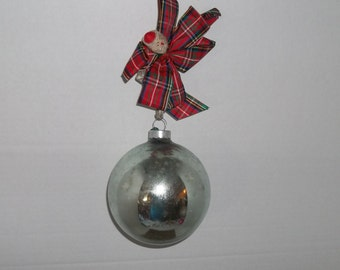 Vintage Large Round Christmas Bulb Ornament