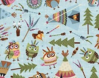 LAST YARD - Timeless Treasures - Owls & Teepees