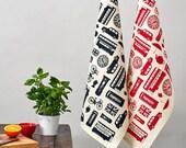 Great British Outline Tea towel