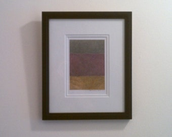 Original, mixed-media drawing. Framed and matted. Minimalist, modern, color field.