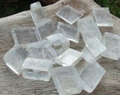 Optical Calcite Crystals,x10 Clear, Rhomboid, Raw Natural Small Cube Crystal, 4-8g each ~ 16-30mm - DISSOLVE ILLUSION - Clear Chakras