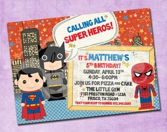 Super Hero Birthday Invitation