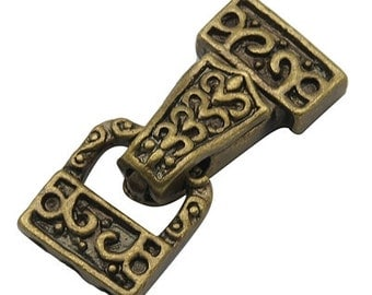 Antique Fold over magnetic Clasp - W0117 28x13x6mm