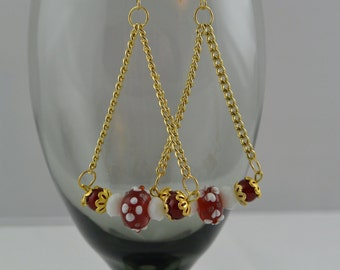 Lampwork Beaded Dangle Earrings