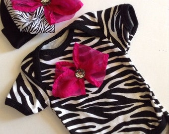 NEWBORN Baby Girl Take Home Hospital Outfit Newborn Baby Girl Coming Home Outfit Baby GIrl Zebra Smash Cake Outfit