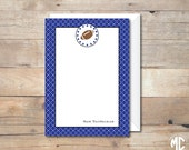 PERSONALIZED NOTE CARD -- Football Party Collection -- Mirabelle Creations