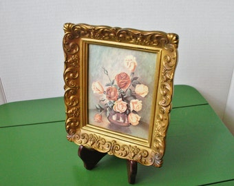 Vintage Ornate Framed Floral Picture With a Story