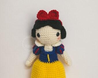 Snow White Inspired crochet doll