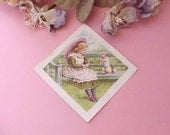 Reserved: Sweet Victorian Era Scrap-Little Girl With Terrier