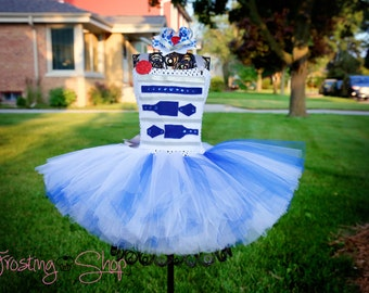 R2-D2 Short Tutu Dress Costume