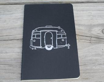 Vintage Camper Silver Embossed Lined Journal