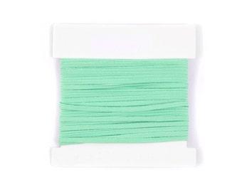 Elastic, 1/8th inch flat elastic for DIY Making Baby Headbands, skinny elastic - 5, 10, or 20 yard bundles - MINT GREEN