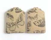 butterfly gift tags hang tags merchandise tags 3 dozen hand punched gift tags embellishment accent packaging gifts favors