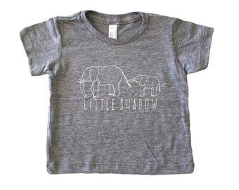Elephant // Little Shadow // Baby Toddler Child Tshirt // GRAY // American Apparel Tee :APlsSSg