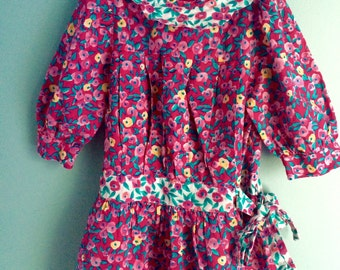 beautiful floral drop waist Dress 2t