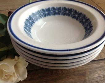 Royal Doulton Blue Wentworth Country Club Steelite Cereal bowls Set of 5