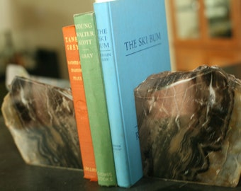 """Equisite Petrified Wood Bookends 10"""" wide, 6"""" tall, 4"""" thick, 11.5 lbs., Home Decor, Natural, Browns, Greys"""