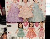 "Formal Dresses for 18"" Dolls Simplicity Pattern 1135"