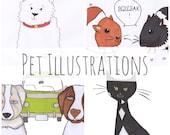 Custom Art, Customized Art, Buy Original Art Work, Fine Art, Design Services, Online Designer, Custom Pet Art, Family Wall Art, Pet Cartoon