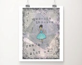 Twinkle twinkle - you're a star, Fine Art Print, Wall Art Home Decor, Whimsical Art, Poster Art Prints, Ballerina, Gift for Women, Girls Art