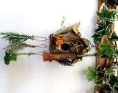 Pagan Wiccan Witch Kitchen / Garden Bird House / Feeder & Herb hanger. Handfasting Or Home Blessings gift.